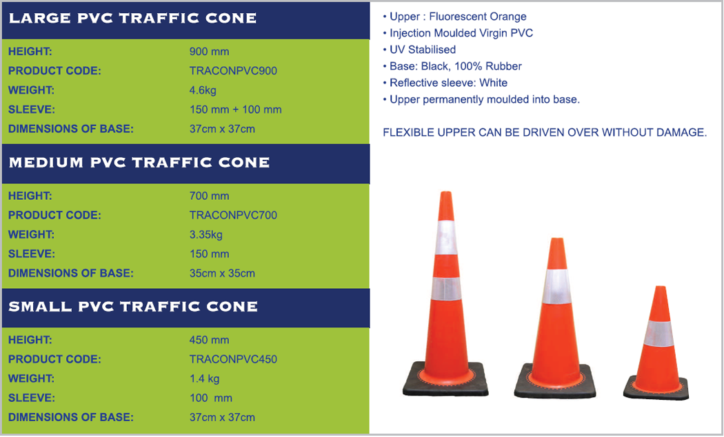 large pvc traffic cone